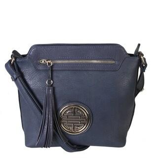 Rimen and Co. Leather Crossbody Messenger Shoulder Handbag