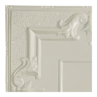 Great Lakes Tin Niagara Antique White 2-foot x 2-foot Nail-Up Ceiling Tile (Carton of 5)