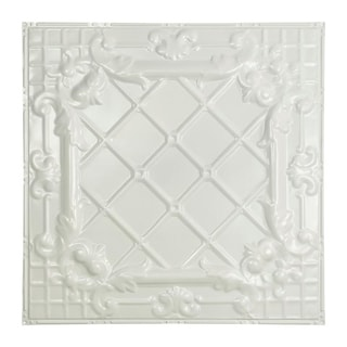 Great Lakes Tin Toledo Gloss White 2-foot x 2-foot Nail-Up Ceiling Tile (Carton of 5)