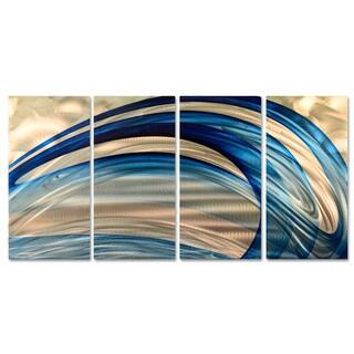 Ash Carl 'Blue Breeze' Metal Wall Art