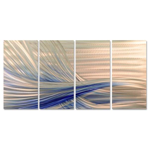 Ash Carl 'Blue Current' Metal Wall Art 16502111