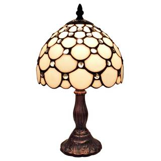 Amora Lighting Tiffany Style Jeweled Mini Table Lamp
