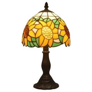 Amora Lighting Tiffany Style Sunflower Mini Table Lamp