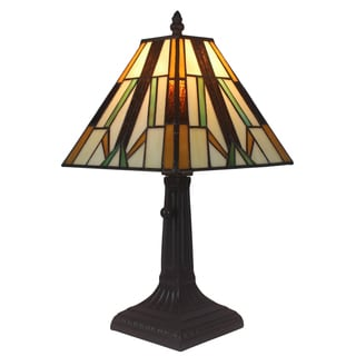 Amora Lighting Tiffany Style Mission Mini Table Lamp