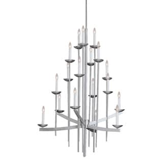 Contemporary 18-light Brushed Nickel Chandelier