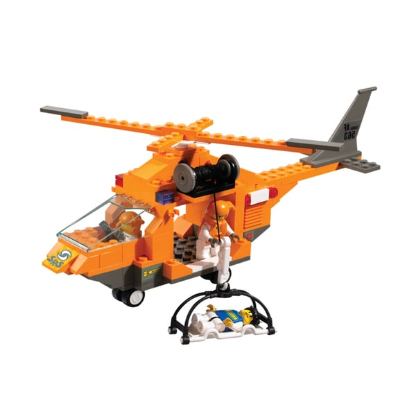 Interlocking Brick Rescue Helicopter