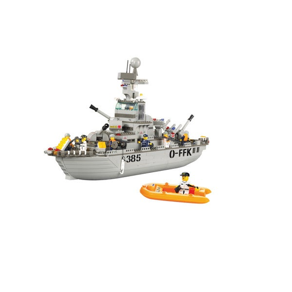 Interlocking Brick Navy Cruiser