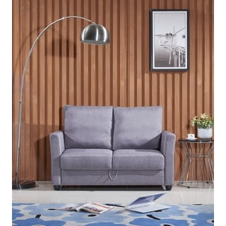 Adia Modern Fabric Loveseat with Storage