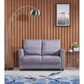 Adia Modern Fabric Loveseat with Storage