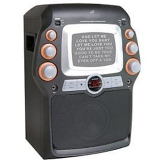 GPX JM332B CD+G Karaoke Party Machine with 5-inch Black and White Monitor (Refurbished)