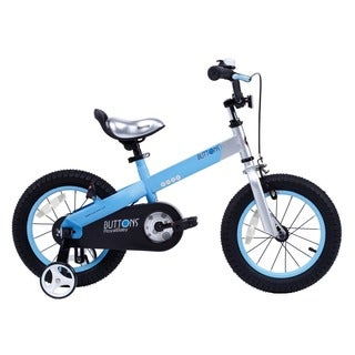 Royalbaby Matte Buttons Kids' Bike with Training Wheels Perfect Gift for Kids. 14 Inch wheels, in 4 colors