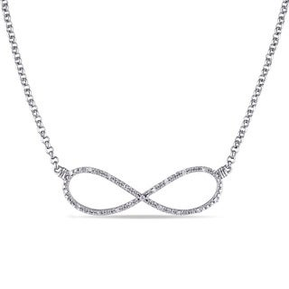 Miadora Sterling Silver 1/10ct TDW Diamond Infinity Necklace (H-I, I2-I3)