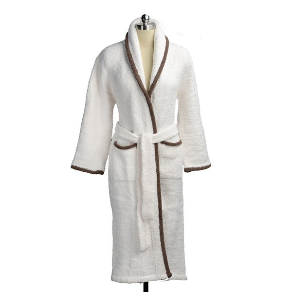 Kashwere Shawl Collar Robe - Cream/Agate (XL)