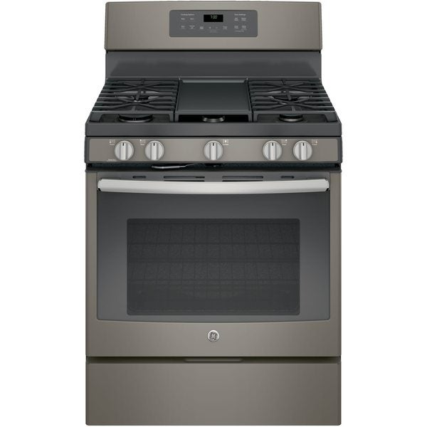 GE Black 30-inch Free-Standing Gas Convection Range -  jgb700