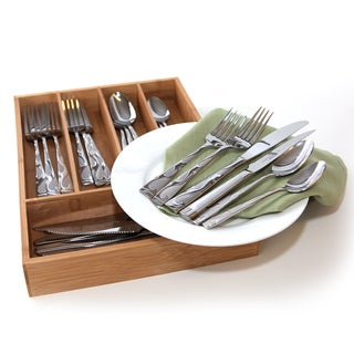 Oneida Tuscany 25-piece Set with Bamboo Storage Caddy (Service for 4)
