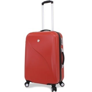 Wenger Red 24-inch Hardside Spinner Upright Suitcase