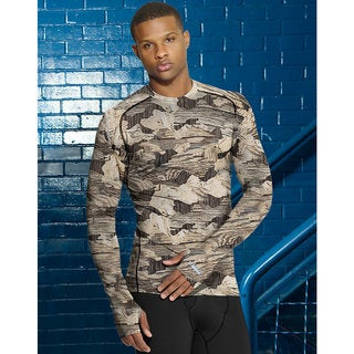 Duofold by Champion Men's THERMatrix Printed Crew T-Shirt