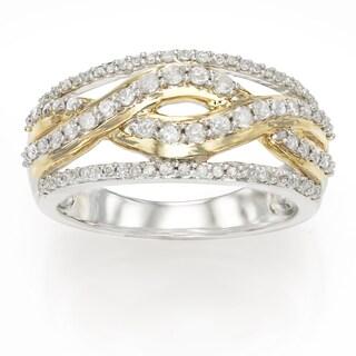 10K White Gold 1/2ct TDW Fashion Diamond Ring (H-I, I1-I2)