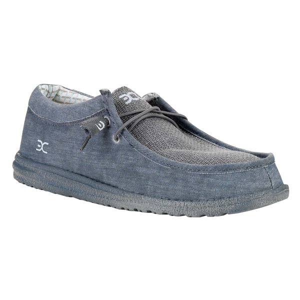 Hey Dude Men's Wally Matte Grey Slip-On Shoes