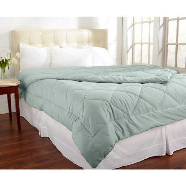 Home Fashion Designs Santino Collection All-Season Luxury Down Alternative Comforter King Size in Silver Sage (As Is Item)