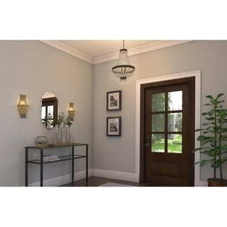 """Metropolitan 1 light Antique Bronze Finish and Clear Crystal Traditional Wall Sconce Small 6"""" W"""