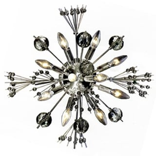 "Starburst 10 light Chrome Finish Crystal Sputnik Modern Large Wall Sconce 20"""
