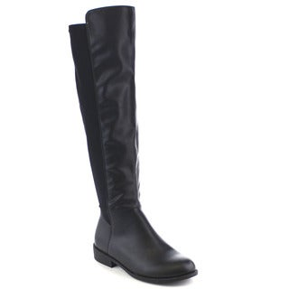 Beston FA23 Women's Fashion 50/50 Over the Knee High Motorcycle Riding Boots