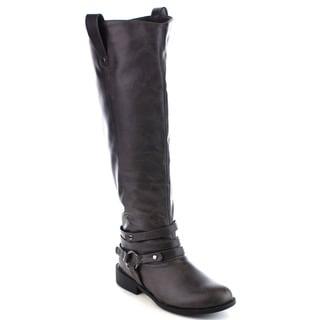 Beston Women's Side Zip Knee High Riding Boots