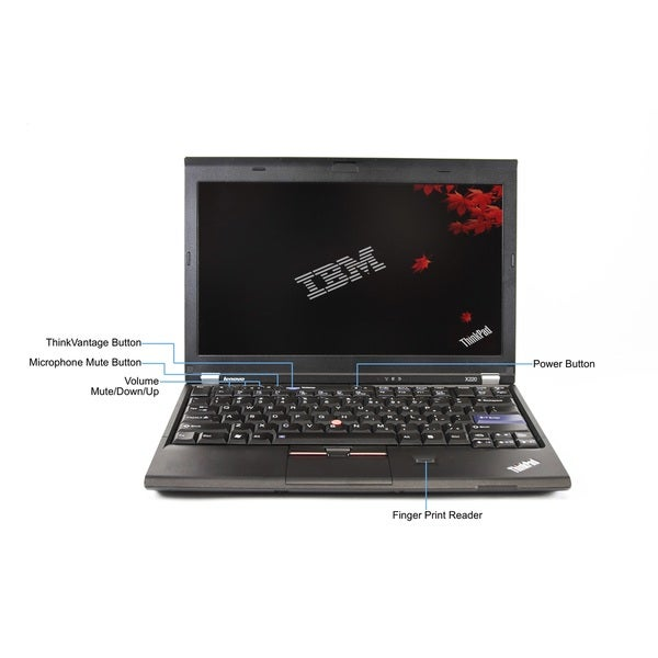 Lenovo ThinkPad X220 12.5-inch 2.5GHz Intel Core i5 8GB RAM 256GB SSD Windows 7 Laptop (Refurbished)