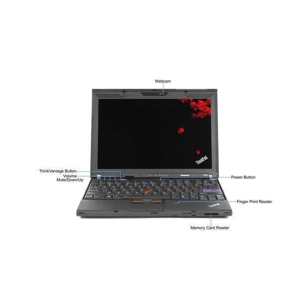 Lenovo ThinkPad X201 12.1-inch 2.53GHz Intel Core i5 8GB RAM 750GB HDD Windows 8 Laptop (Refurbished)