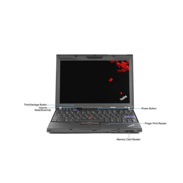 Lenovo ThinkPad X201 12.1-inch 2.67GHz Intel Core i7 8GB RAM 256GB SSD Windows 7 Laptop (Refurbished)