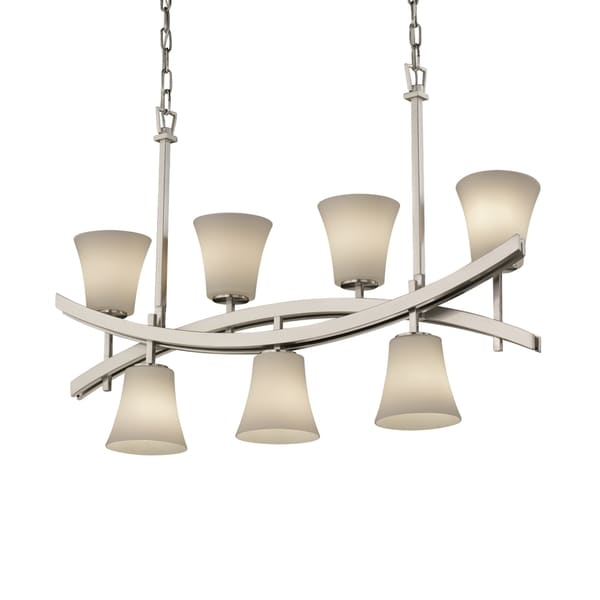 Justice Design Group Fusion Archway Up & Downlight Chandelier Round Flared