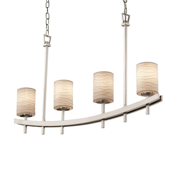 Justice Design Group Limoges Archway Uplight Bar Chandelier Cylinder with Flat Rim 16503701