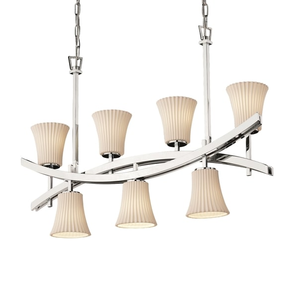 Justice Design Group Limoges Archway Up & Downlight Chandelier Round Flared