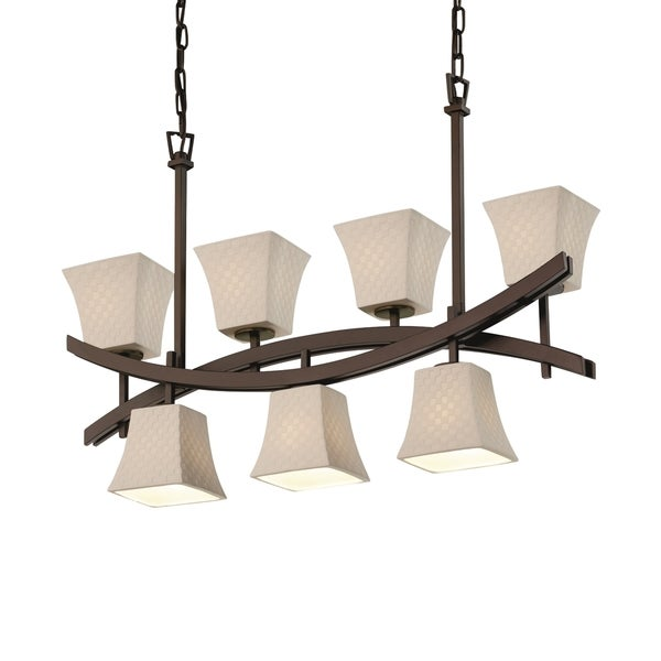 Justice Design Group Limoges Archway Up & Downlight Chandelier Square Flared