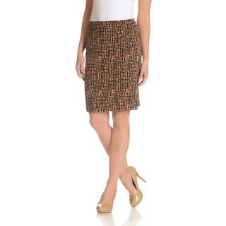 Joan Vass Women's Basketweave Skirt