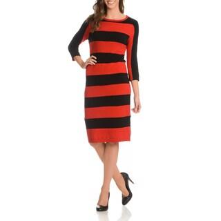 Joan Vass Women's Wide Stripe Dress
