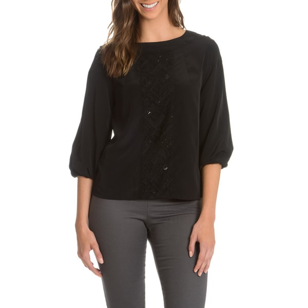 Episode Women's 3/4-Length Puff Sleeve Blouse