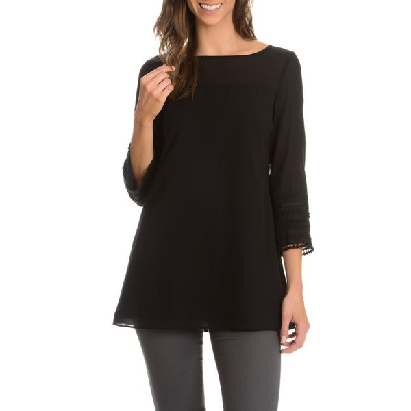 Episode Women's Sheer 3/4-Length Sleeve Tunic