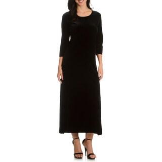 Joan Vass Women's Long Velvet Dress