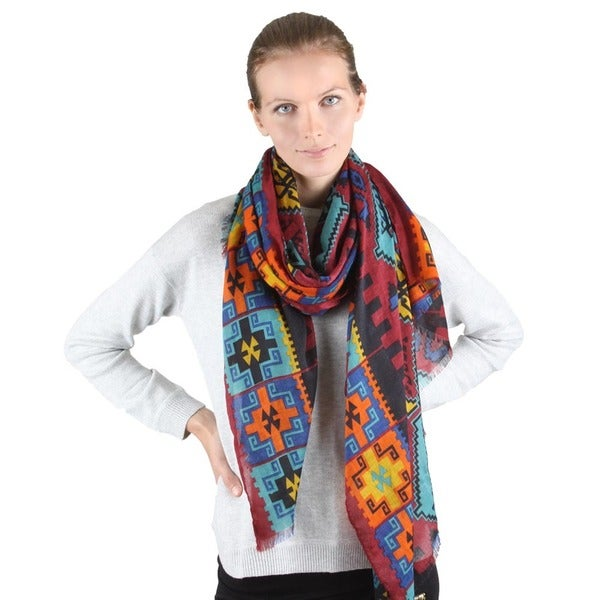 Aztec Print Woven Scarf