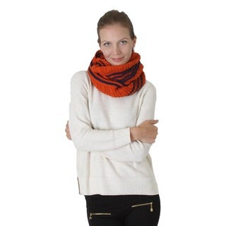 Three Strip Knitted Infinity Scarf