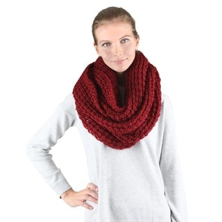 Chunky Knitted Infinity Scarf