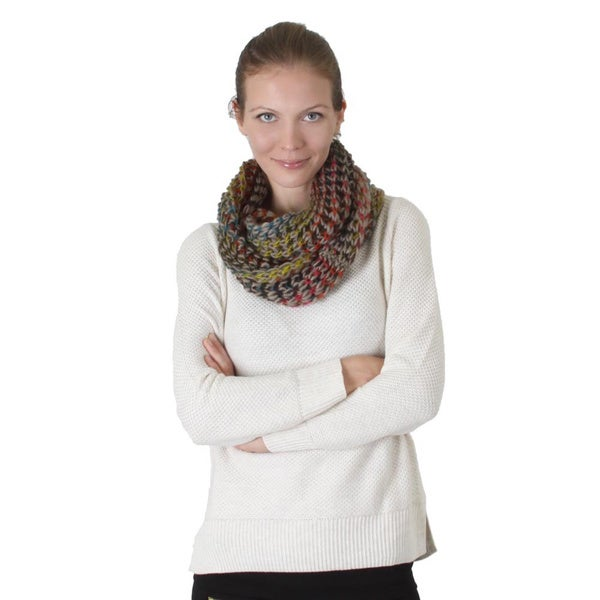 Multicolor Knitted Light Weight Infinity Scarf