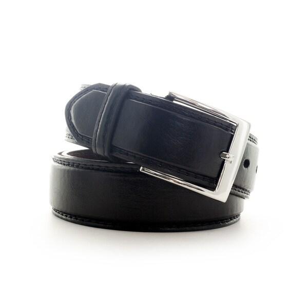 Faddism Men's Black/ Brown Leather Belt