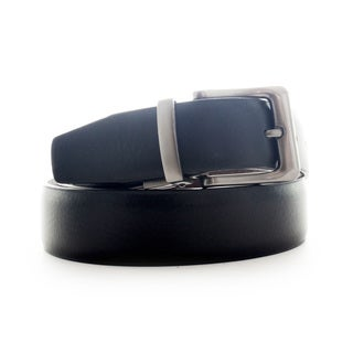 Faddism Men's Leather Reversible Belt