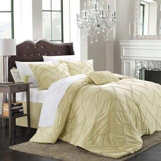 Chic Home Belvia Gold 5-piece Comforter Set