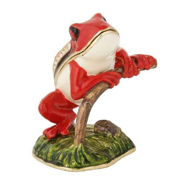 Red Frog Trinket Box