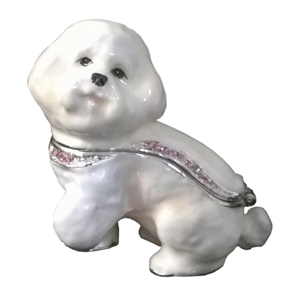 Bichon Frise Dog Trinket Box
