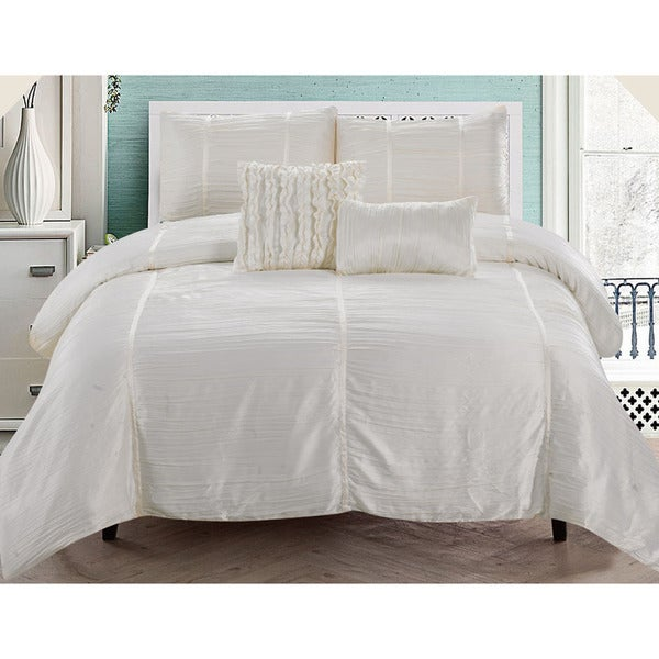 Kingsley Crushed Sateen 5-piece Comforter Set